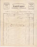 10 Nogent Sur Seine- Facture Tartary Arquebusier & Quincaillier De 1888 Complete Tb état - France