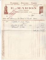 10 Nogent Sur Seine- Facture E Marion (A Drujon Seur) De 1934 Complète Tb état - France