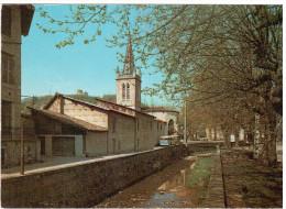 CPSM MONTLUEL AIN LES QUAIS DE LA SEREINE ED CELLARD 1972 BUS - Montluel