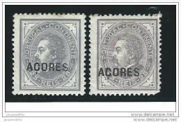 Azores       Af   33/34            *          Ongebruikt  /  Mint  /  Ungebraucht  /  Neuf  * - Azoren