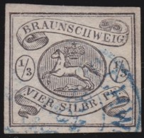 Braunschweig  SG   5   Repariert   Attest  (3 Scans)     O   Gebruikt  /  Cancelled  /  Gebraucht  /  Oblitéré - Braunschweig