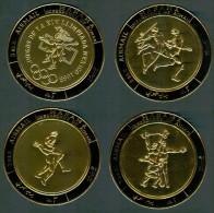 "1968 Manama ""Mexico 68"" Coppa Del Mondo World Cup Coupe Du Monde Calcio Football Set Gold Printed Airmail MNH** - Sommer 1968: Mexico"