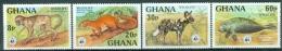 Ghana 1977 WWF Animals MNH** - Lot. 4258 - Ghana (1957-...)