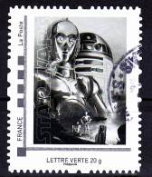 "Montimbramoi, Lettre Verte.20gr ""C-3PO/D2R2"" Issu Du Collector STAR WARS,  Used/oblitéré - France"