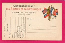 Correspondance Des Armées De La République, Carte En Franchise, Pour Les Troupes En Opérations - Guerre 1914-18