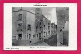 54 Meurthe-et-Moselle Nomeny Rue Fourrier-d´Hincourt, Villes Martyres, 1915, (Imprimerie Réunis De Nancy ) - Guerra 1914-18