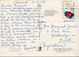 Postal History Ppc: Spain - Winter 1968: Grenoble