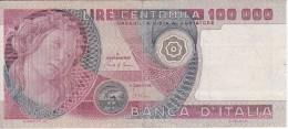 BILLETE DE ITALIA DE 100000 LIRAS DEL AÑO 1980 SERIE VA DE ARMENTI (BANKNOTE) - [ 2] 1946-… : Républic