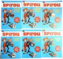 6 FLYERS DIFFERENTS BLEUS JOURNAL SPIROU 2011 - MUNUERA - SPIROU ET FANTASIO - Oggetti Pubblicitari