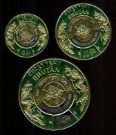 1968 Bhutan Anno Internazionale Diritti Dell'Uomo Set Gold Printend MNH** - Bhutan