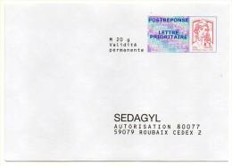 PAP REPONSE--Ciappa Kavena--SEDAGYL--Lot 15P166  Interne N° NF 316/12--NEUF - Postal Stamped Stationery