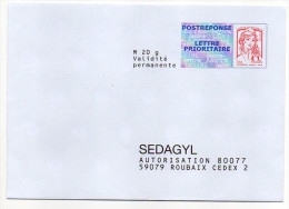 PAP REPONSE--Ciappa Kavena--SEDAGYL--Lot 14P217  Interne N° NF 316/12--NEUF - Postal Stamped Stationery