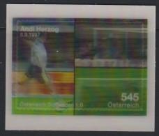 D 931) Österreich Austria 2008 Mi# 2731 Block 42 **: Andreas Herzog (*1968) Beim Torschuss WM-Qualifikation; 3D - 2001-10 Unused Stamps