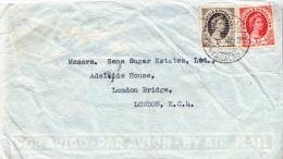 Postal History Cover: Rhodesia And Nyasaland QE Stamps - Rhodesia & Nyasaland (1954-1963)