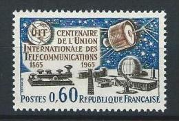 "Yt 1451 "" Union Des Télécommunications "" 1965 Neuf ** - France"