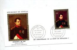 Lettre Fdc 1971 Dakar Mort Napoleon - Sénégal (1960-...)
