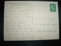 CP MUNSINGEN TP MARIANNE DE CHEFFER 0,30 OBL.MEC.5-11-1970 POSTE AUX ARMEES - Cachets Militaires A Partir De 1900 (hors Guerres)