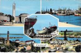 LORIENT 56 - Petit Lot De 4 CPSM Dentelées Colorisée Noir Et Blanc GF - Morbihan - Lorient