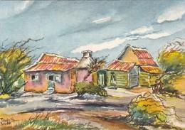 Netherlands Antilles Aruba Cunucu House Signed Pandellis - Aruba