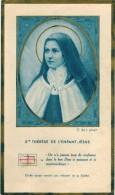 """IMAGE PIEUSE RELIGIEUSE HOLY CARD SANTINI RELIQUIA Couleur BLEU  : """"  Ste Thérèse De L'Enfant Jésus """" - Imágenes Religiosas"""