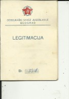 VOLLEYBALL  FEDERATION OF YUGOSLAVIA  / CROATIA   --  MEMBERSHIP CARD  --  LADY FOTO  --  1958 - Historische Dokumente