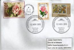 Rose Léonie Viennot (URUGUAY)  Sur Lettre Adressée En Andorre, Avec Timbre à Date Arrivée Au Recto Enveloppe - Uruguay
