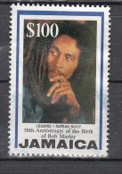 Jamaica 1995 Mi Nr 866  Bob Marley  Waarde $ 100  Zegel Uit Blok - Jamaica (1962-...)
