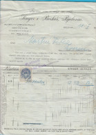 SINGER I BERKES , BJELOVAR - Zagreb Brewery Beer Warehouse * Croatia - Old Invoice From 1916.y * KuK Revenue Stamp BIRRA - Invoices & Commercial Documents