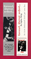 Marque Page. Bookmark.   Chanteur.  RENAUD.   Baba éditions - Bookmarks