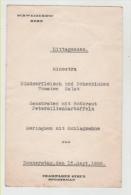 Menù Schweizerhof Bern  1938 Champagne Strub Sportsman - Svizzera