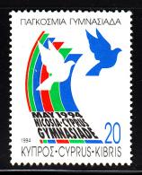 Cyprus Used Scott #831 20c World Gymnasiade, Nicosia - Chypre (République)
