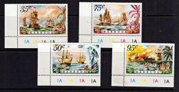 A5048 BARBUDA 1975, SG 223-6 Sea Battles, MNH (ships) - Antigua And Barbuda (1981-...)