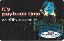 Trump Marina Casino Atlantic City NJ Slot Card (Blank) - Casino Cards