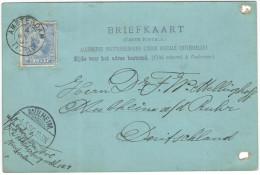 OLANDA - NEDERLAND - Paesi Bassi - 1896 - Briefkaart - Carte Postale - Postal Card - 5 Cent - Viaggiata Da Amsterdam ... - Periode 1891-1948 (Wilhelmina)