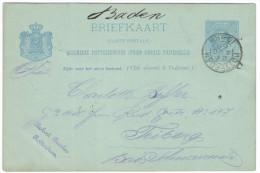OLANDA - NEDERLAND - Paesi Bassi - 1896 - 5 Cent - Briefkaart - Carte Postale - Postal Card - Intero Postale - Entier... - Postal Stationery