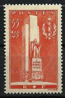"""FR YT 395 """" A La Gloire Des Services De Santé """" 1938 Neuf* - France"""