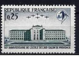 """Yt 1463 """" Ecole De L´Air """" 1965 Neuf ** - France"""
