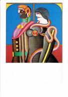 Cpsm - Illustration - Richard Lindner - Et, EVE - 1970 - FEMME HOMME SERPENT POMME - Altre Illustrazioni