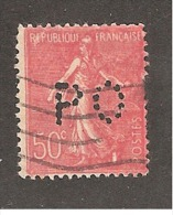 Perforé/perfin/lochung France No 199 PO Chemins De Fer Paris-Orléans - Perforés