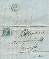 CARTA   1861   BAGNOLS A ORANGE - Marcofilia (sobres)