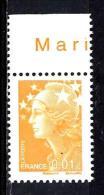 FRANCE  4226**  0,01 €  Jaune  Marianne De Beaujard Gommée - 2008-13 Maríanne De Beaujard