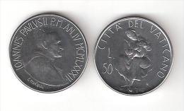 C) VATICANO GIOVANNI PAOLO II°  LIRE 50 DEL 1982 FDC - Vaticaanstad