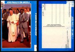 PORTUGAL COR 43683 -  JOÃO PAULO II EM ANGOLA  - LUANDA -  SS PAPA JOANES PAULUS II - POPE - Angola