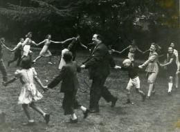France Film Acteur Chansonnier Gabriello André Galopet Enfants Dedicace Ancienne Photo 1943 - Signed Photographs