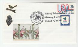 1993 Prescott  ARIZONA ´ RODEO Of RODEOS ´  EVENT COVER USA  Illus CACTUS Label  Stamps Cacti Horse Horses - Event Covers