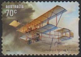 AUSTRALIA - DIECUT - USED 2014 70c Centenary Of Military Aircraft - Usati