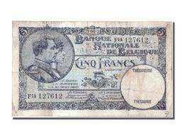 Belgique, 5 Francs Type 1920-22 - Belgien