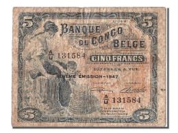 Congo Belge, 5 Francs Type 1941-50 - [ 5] Belgisch Kongo