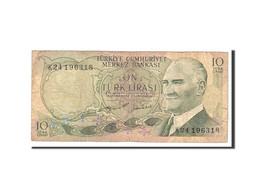 Turquie, 10 Lira, 1975, Undated, KM:186, B - Turkije
