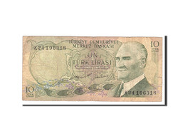 Turquie, 10 Lira, 1975, Undated, KM:186, B - Turchia